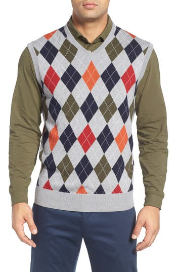 Bobby Jones Argyle Merino Wool Sweater Vest