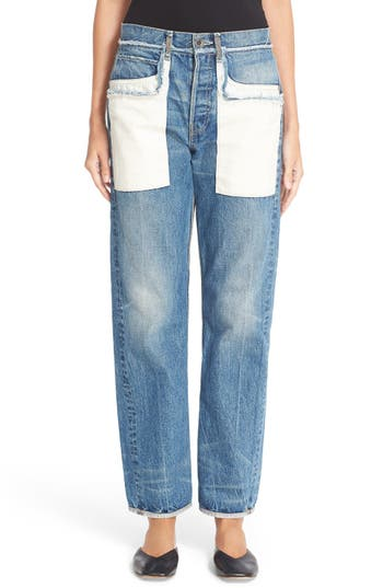 Helmut Lang Inverted Pocket High Waist Jeans