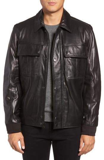 Marc New York by Andrew Marc Andover Leather Bomber Jacket