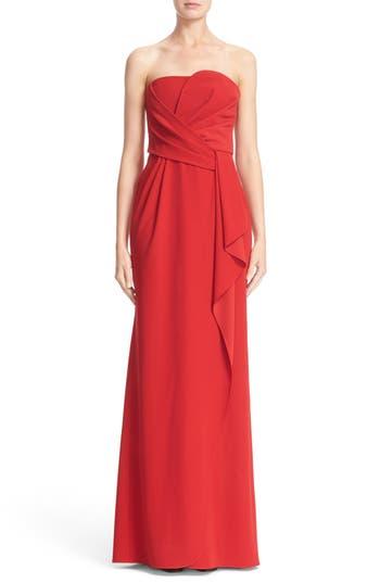Armani Collezioni Techno Cady Strapless Gown