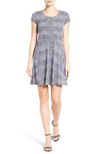 MICHAEL Michael Kors Zephyr Fit & Flare Dress (Regular & Petite)