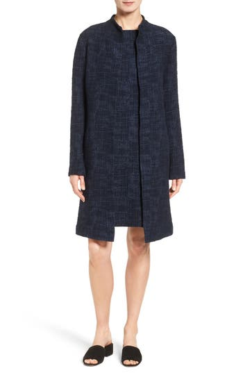 Eileen Fisher Crosshatch Jacquard Topper