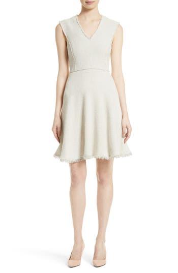Rebecca Taylor Stretch Tweed Fit & Flare Dress