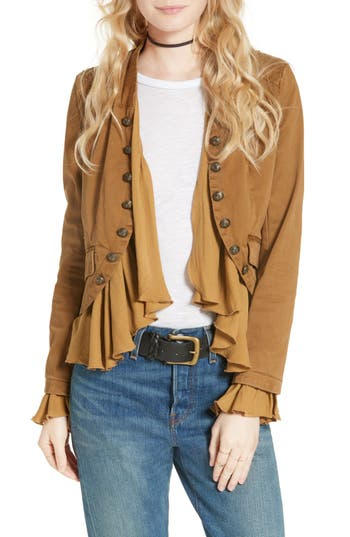 Free People Romantic Ruffle Jacket