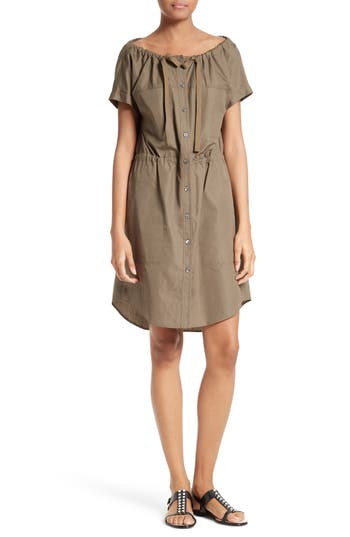 Theory Laela Stretch Cotton Shirtdress