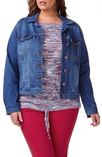 ADDITION ELLE LOVE AND LEGEND Denim Jacket (Plus Size)