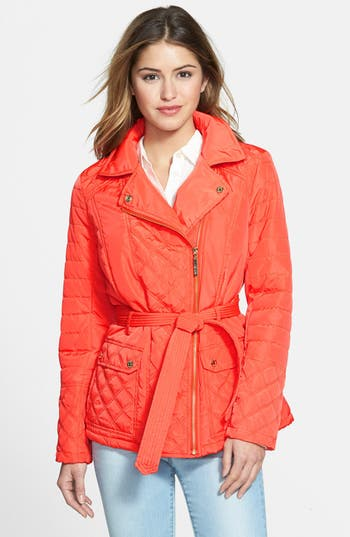 kensie Asymmetrical Quilted Jacket