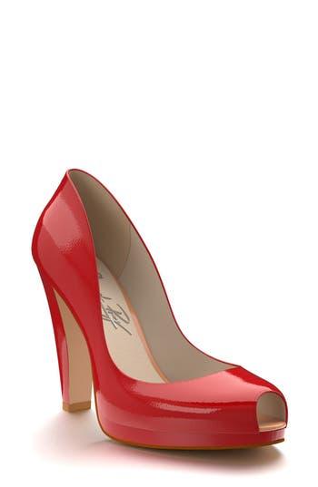 Shoes of Prey   Peep Toe Platform Pump (Women)