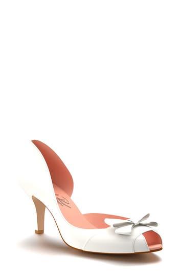 Shoes of Prey Half d'Orsay Peep Toe Pump (Women)