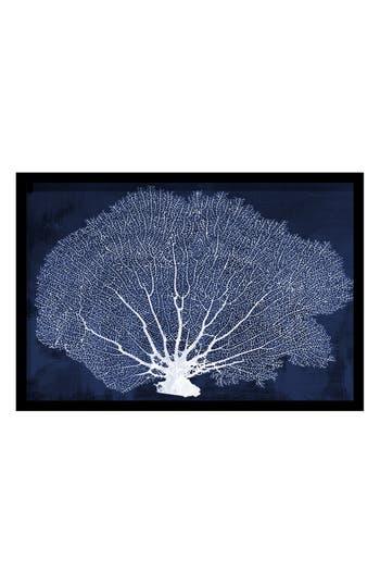 Oliver Gal 'Coral Fan' Framed Cyanotype Art Print