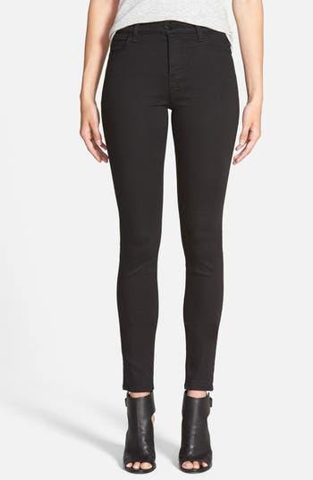 J Brand Maria High Waist Skinny Jeans (Seriously Black)