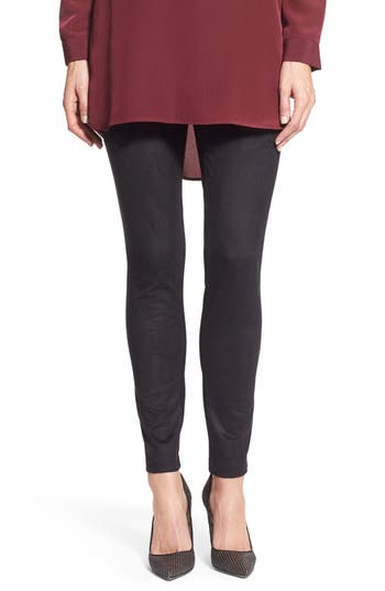 Two by Vince Camuto Faux Suede & Ponte Leggings