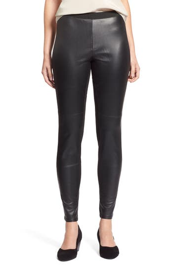 Eileen Fisher Blocked Leather Leggings