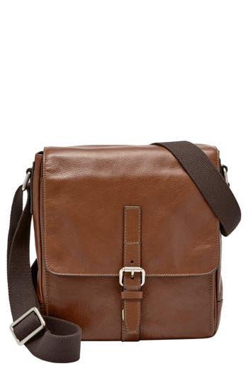 Fossil 'Davis' Leather Messenger Bag