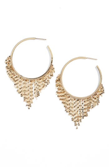Lana Jewelry Medium Fringe Hoop Earrings