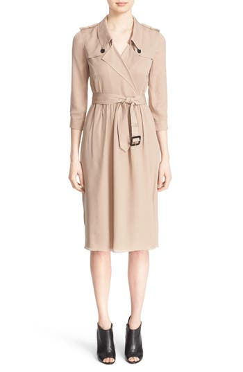 Burberry London 'Agatha' Belted Silk Dress