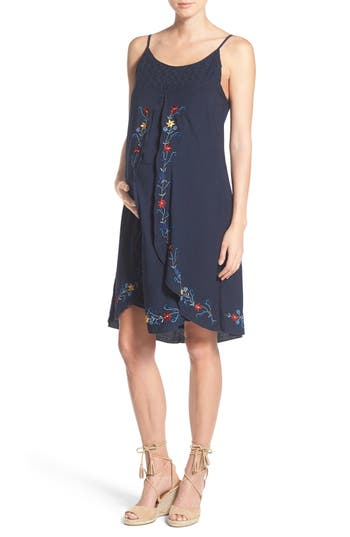 Fillyboo 'Love Locked' Embroidered Maternity/Nursing Dress