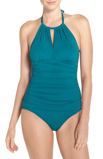 Tommy Bahama 'Pearl' High Halter Neck One-Piece Swimsuit