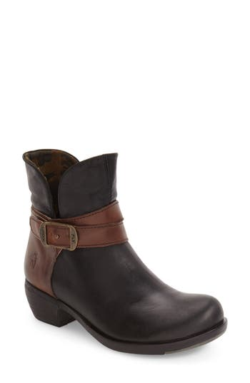 Fly London 'Main' Buckle Strap Bootie (Women)