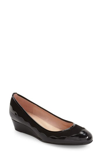 French Sole 'Obsess' Scalloped Wedge Pump (Women)