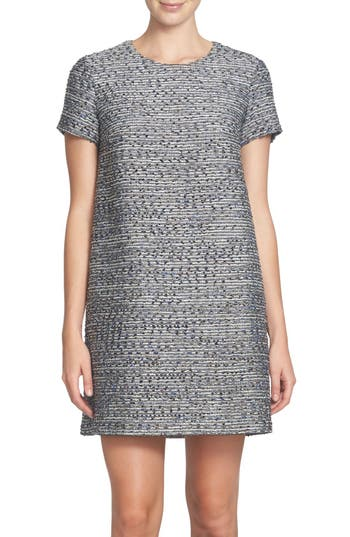 CeCe Kayte Metallic Tweed Shift Dress (Regular & Petite)