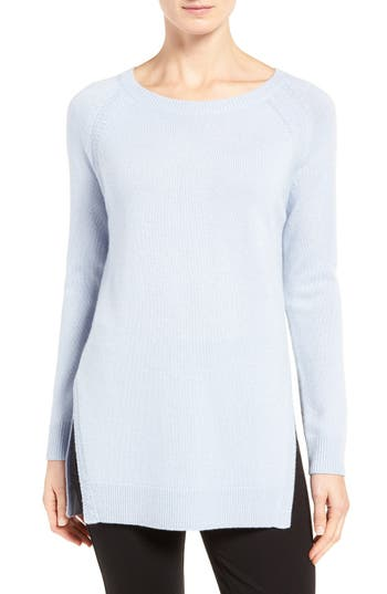 Nordstrom Collection Side Slit Cashmere Sweater
