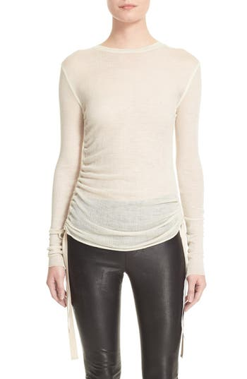 Helmut Lang Side Tie Wool Sweater