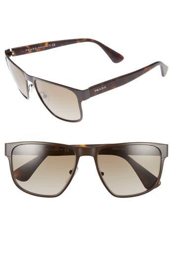 Prada 55mm Polarized Sunglasses
