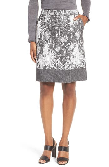 BOSS Vaneki Snake Jacquard A-Line Skirt