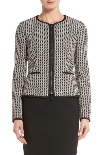 BOSS Koralena Structured Tweed Jacket (Regular & Petite)