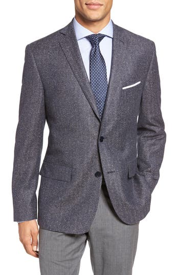 JB Britches Workshop Classic Fit Herringbone Wool Sport Coat