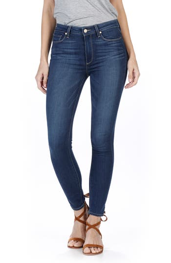 PAIGE Transcend - Hoxton High Waist Ankle Skinny Jeans (Trina)