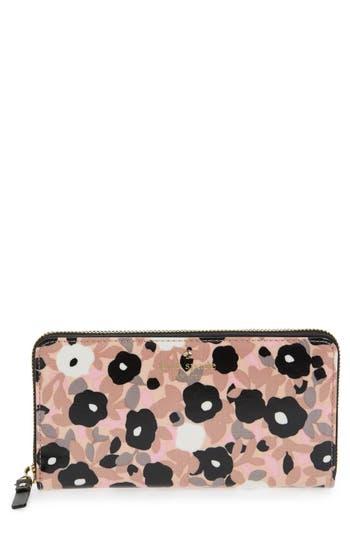 kate spade new york cedar street - lacey floral zip around wallet