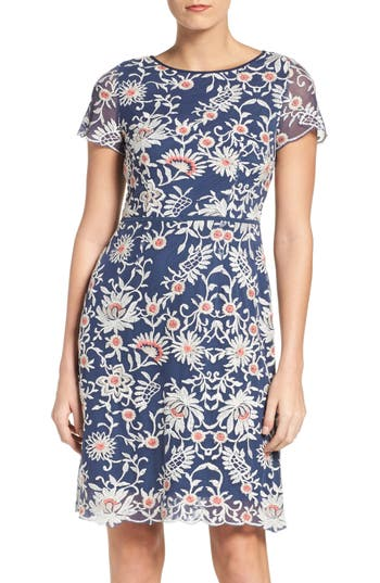 Adrianna Papell Marrakesh Embroidered A-Line Dress (Regular & Petite)