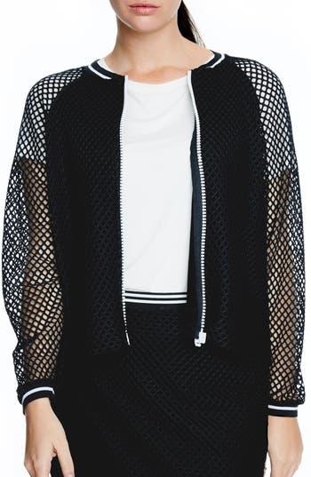 ELVI Fishnet Bomber Jacket (Plus Size)