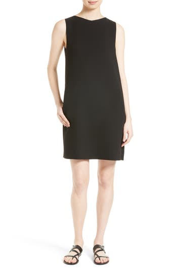 Theory Narlica Admiral Crepe Button Back Shift Dress