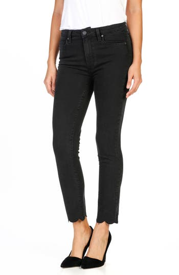 PAIGE Jacqueline High Waist Crop Straight Leg Jeans (Vintage Black)