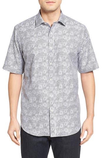 Bugatchi Classic Fit Floral Stripe Sport Shirt