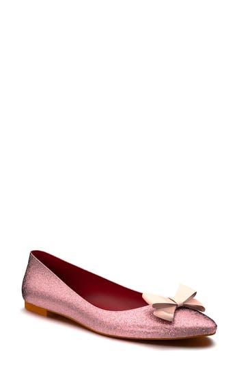 Shoes of Prey Glitter Bow Ballet Flat (Women)