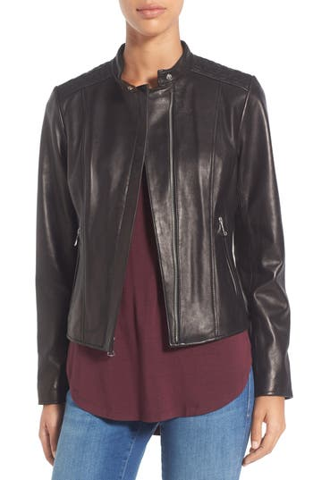Marc New York by Andrew Marc 'Liv' Lambskin Leather Jacket