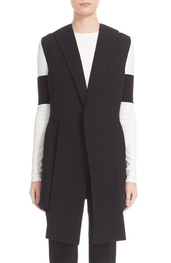 Narciso Rodriguez Long Wool Piqué Vest