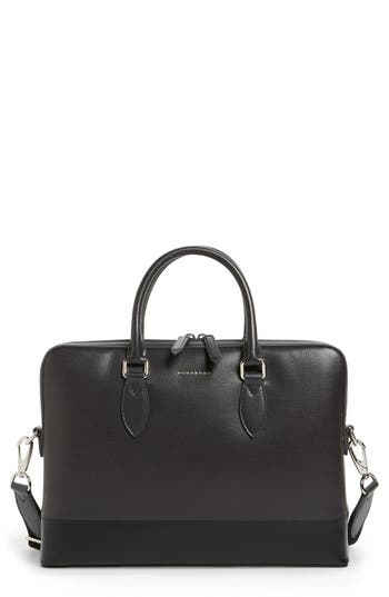 Burberry The Barrow Leather Briefcase