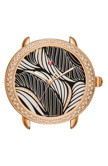 MICHELE Serein 16 Diamond Watch Case, 34mm x 36mm