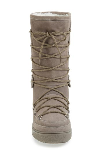Moncler 'New Laetitia' Genuine Shearling Tall Boot (Women)