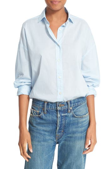 Vince Easy Shirttail Cotton Shirt
