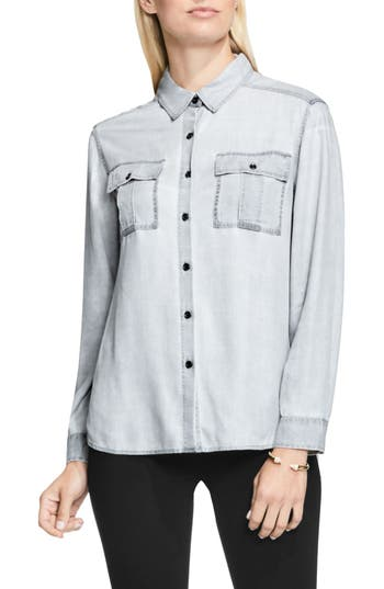 Two by Vince Camuto Pastel Fade Relaxed Utility Shirt