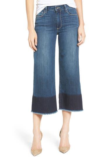 PAIGE Legacy - Lori Crop Wide Leg Jeans (Sherwood)