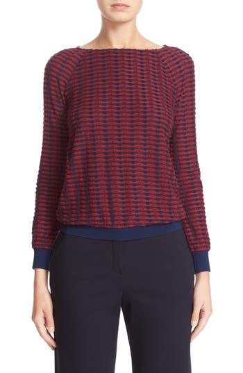 Armani Collezioni Stripe Jacquard Sweater