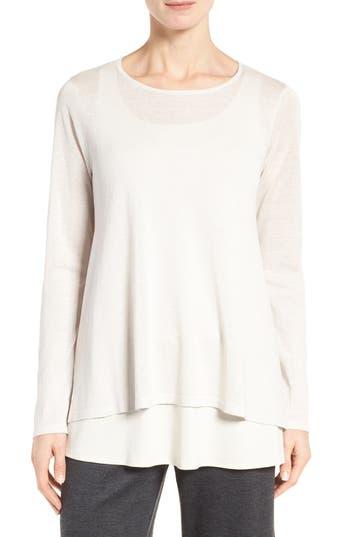 Eileen Fisher Silk & Organic Linen Sweater