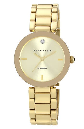 Anne Klein Mirror Bezel Bracelet Watch, 32mm